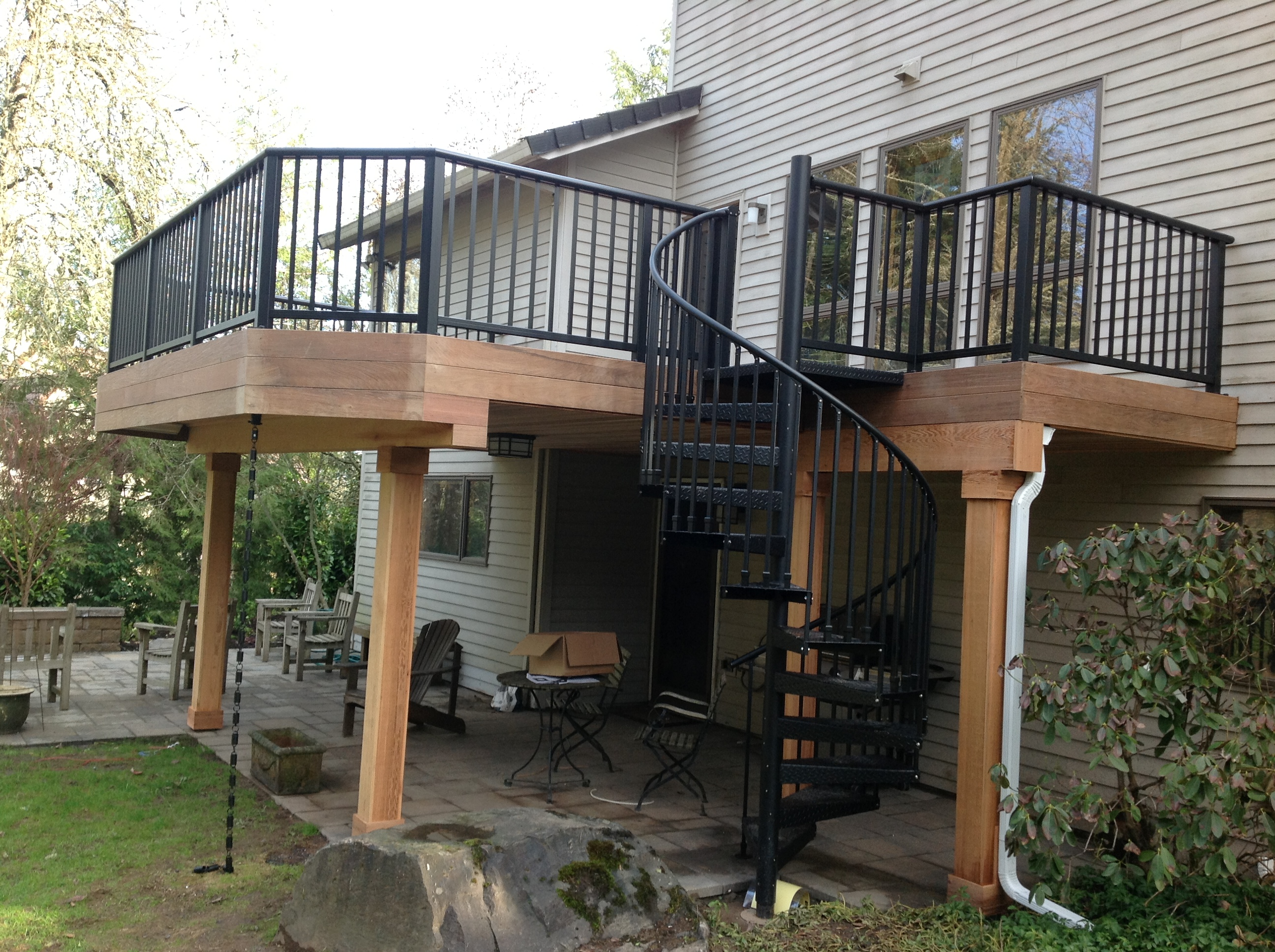 Ipe deck project in lake oswego oregon portland deck for Second floor deck