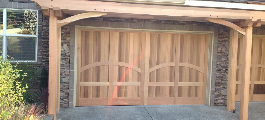 Attrayant Cedar Front And Garage Door NW Portland, OR | Portland Deck Builder |  Creative Fences U0026 Decks | Design U0026 Construction