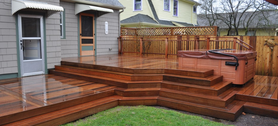 Ipe deck cable railing joy studio design gallery best for Wood privacy screens for decks