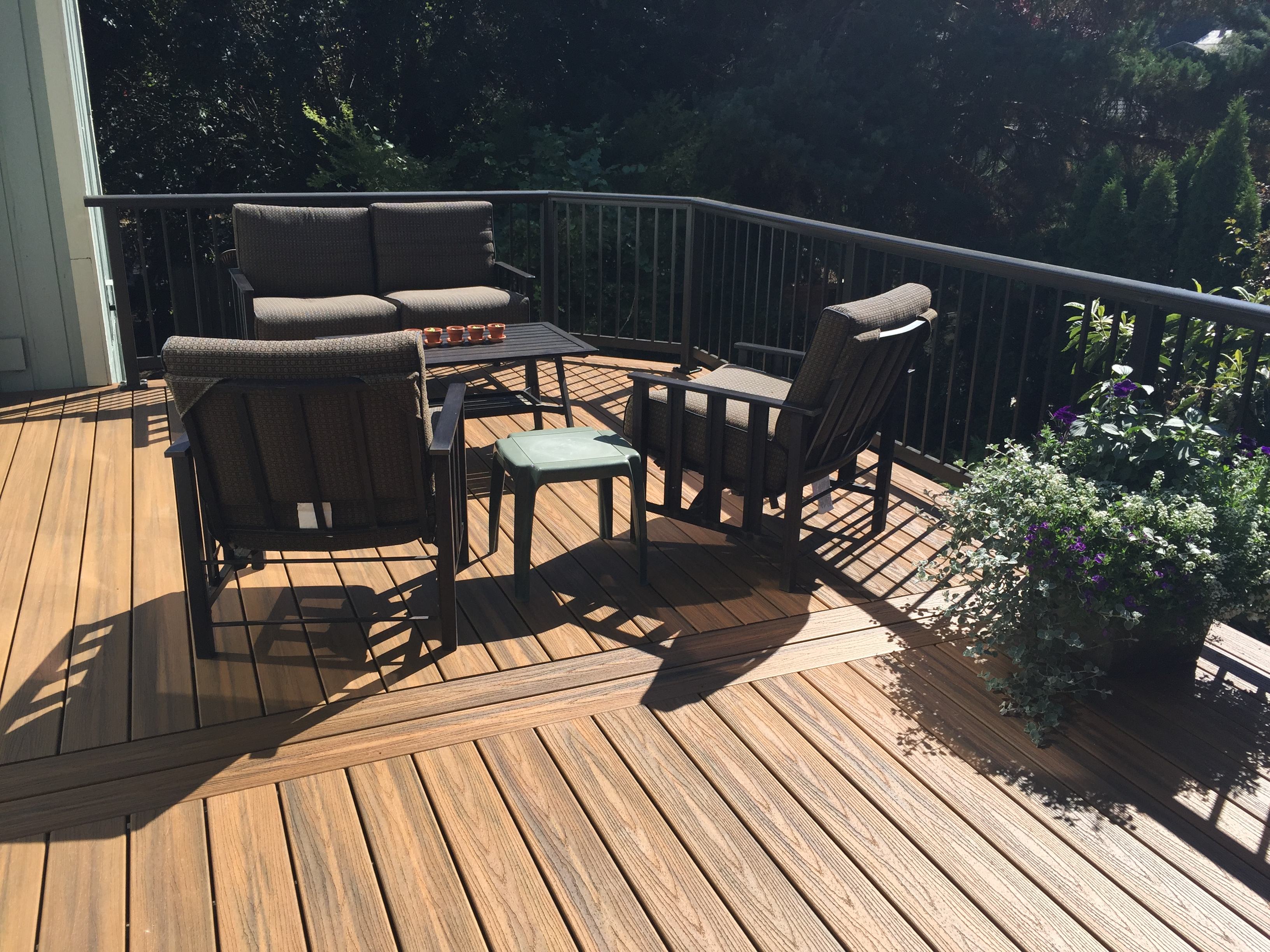 Havana Gold Trex Deck With Sapa Aluminum Railing