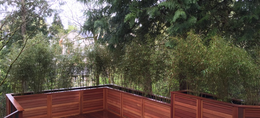 Horizontal Fence With Planters