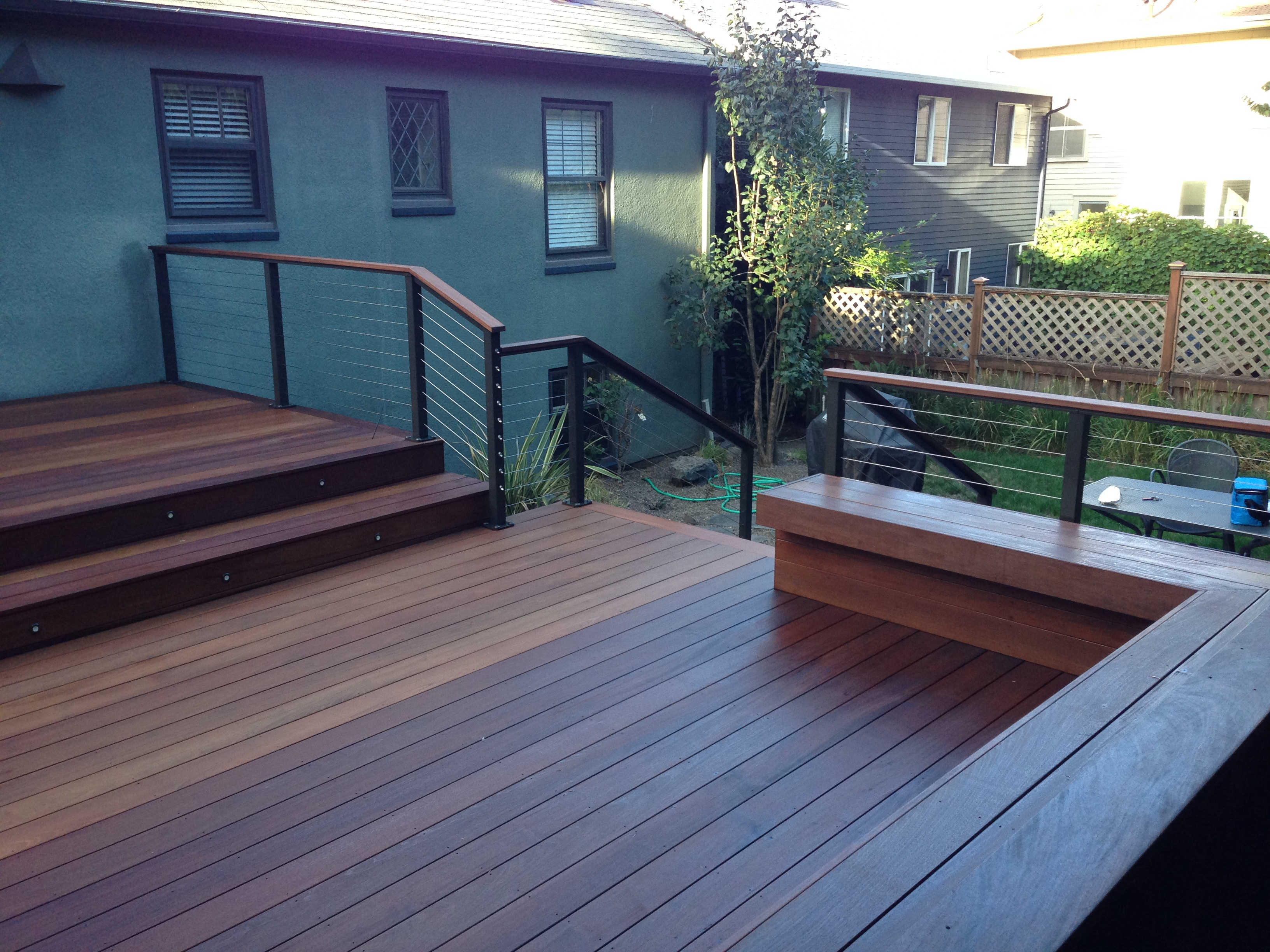 Ipe Deck In Ne Portland With Privacy Screen And Custom