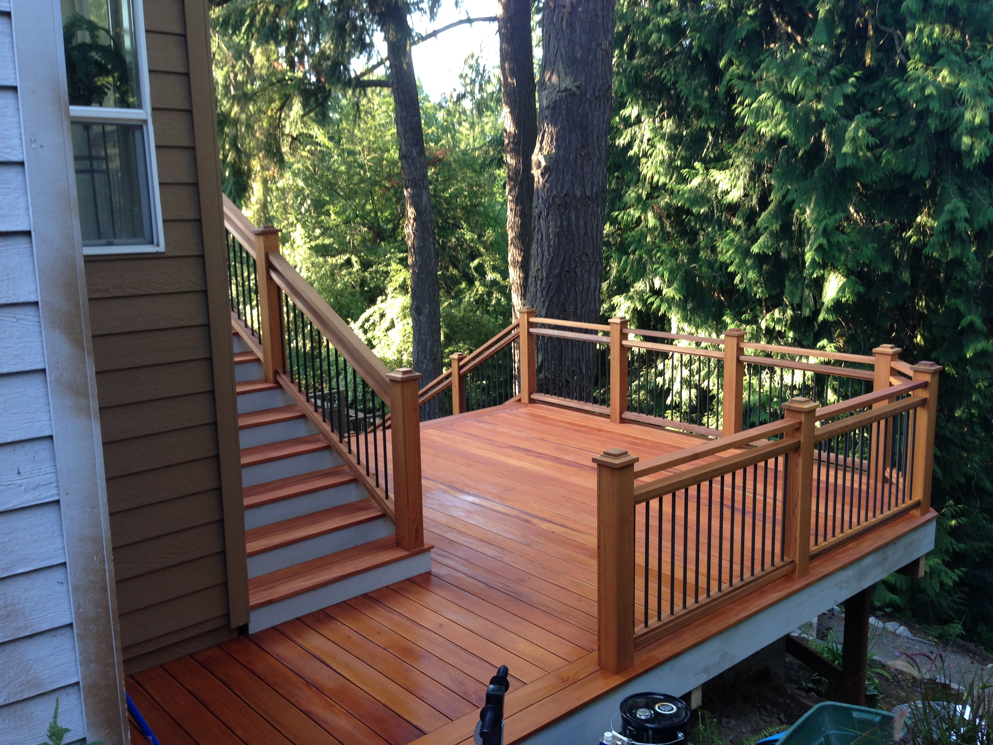 fijian mahogany deck in sw portland portland deck builder creative fences decks design construction
