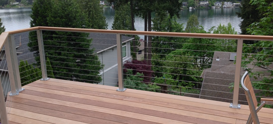 Lake Oswego Ipe Deck With Anodized Aluminum Cable Railing