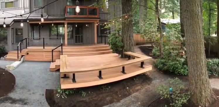 Two Level Hardwood Deck