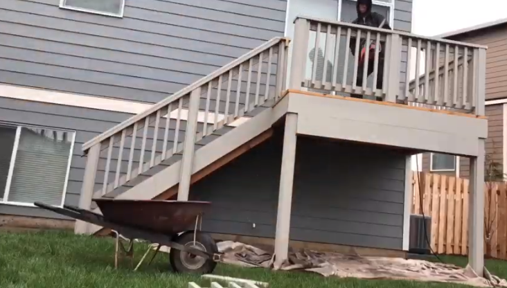 A bigger deck with better stairs